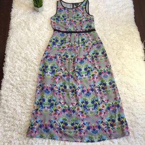 Nicole miller floral maxi dress